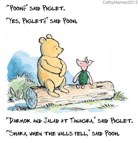 Pooh and Piglet at Tanagra