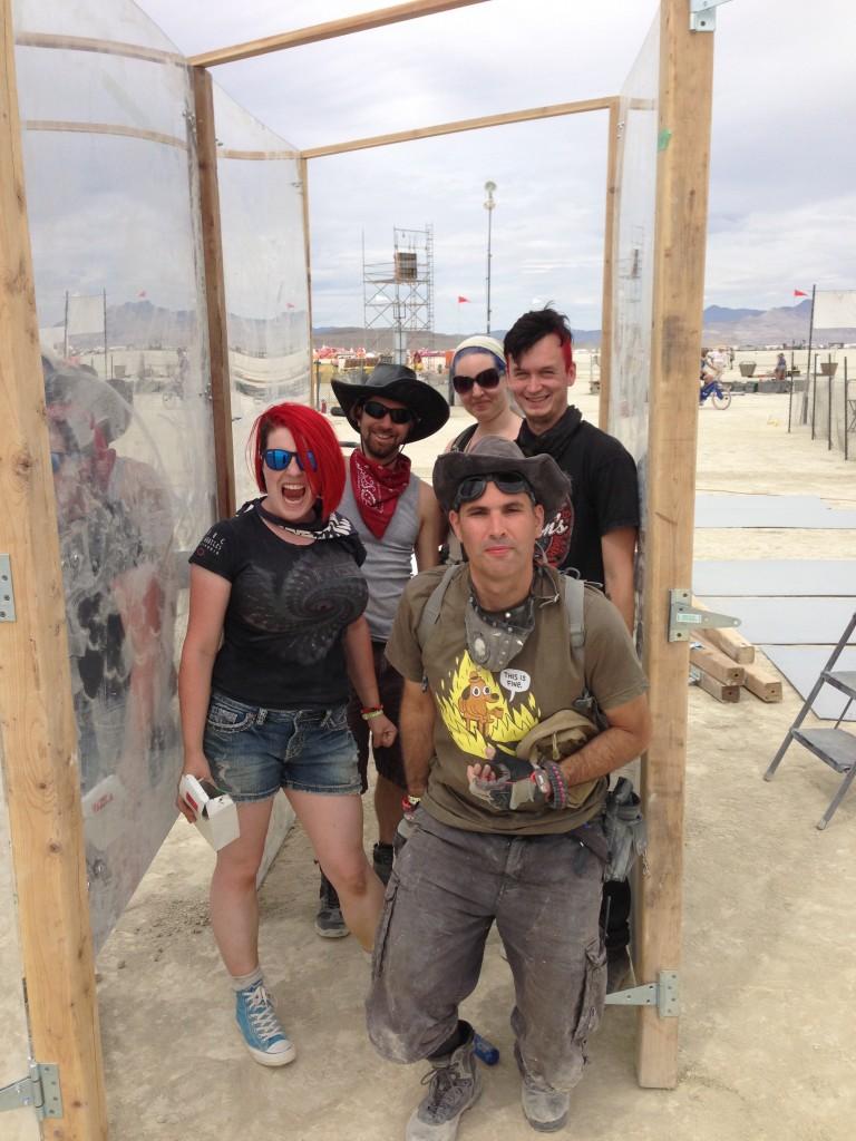 Building crew triumphant!  (l-r: S, Kosta, Steph, Matt, Evan).