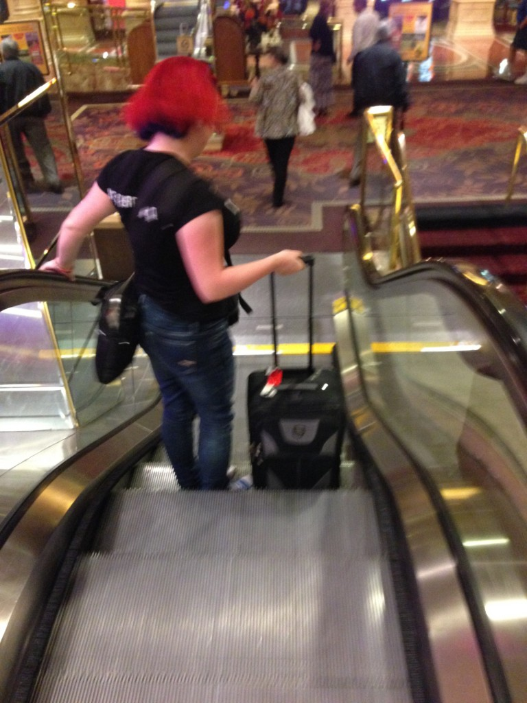 The Escalatrix De-escalates the Shortest Escalator I.