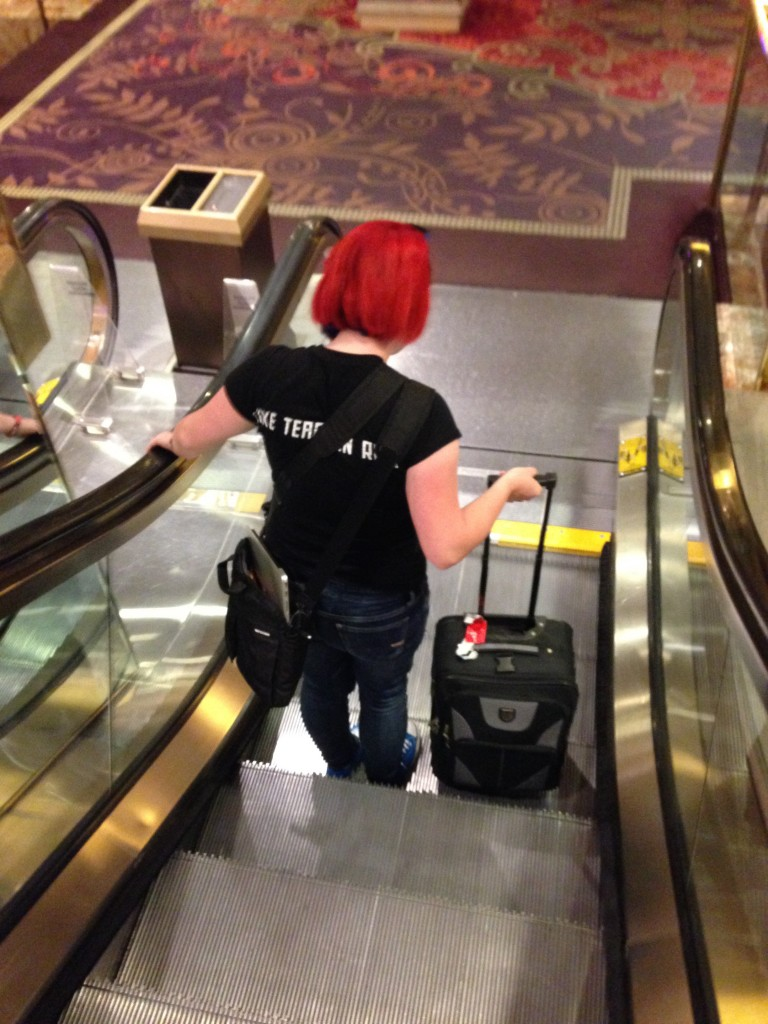 The Escalatrix De-escalates the Shortest Escalator II.