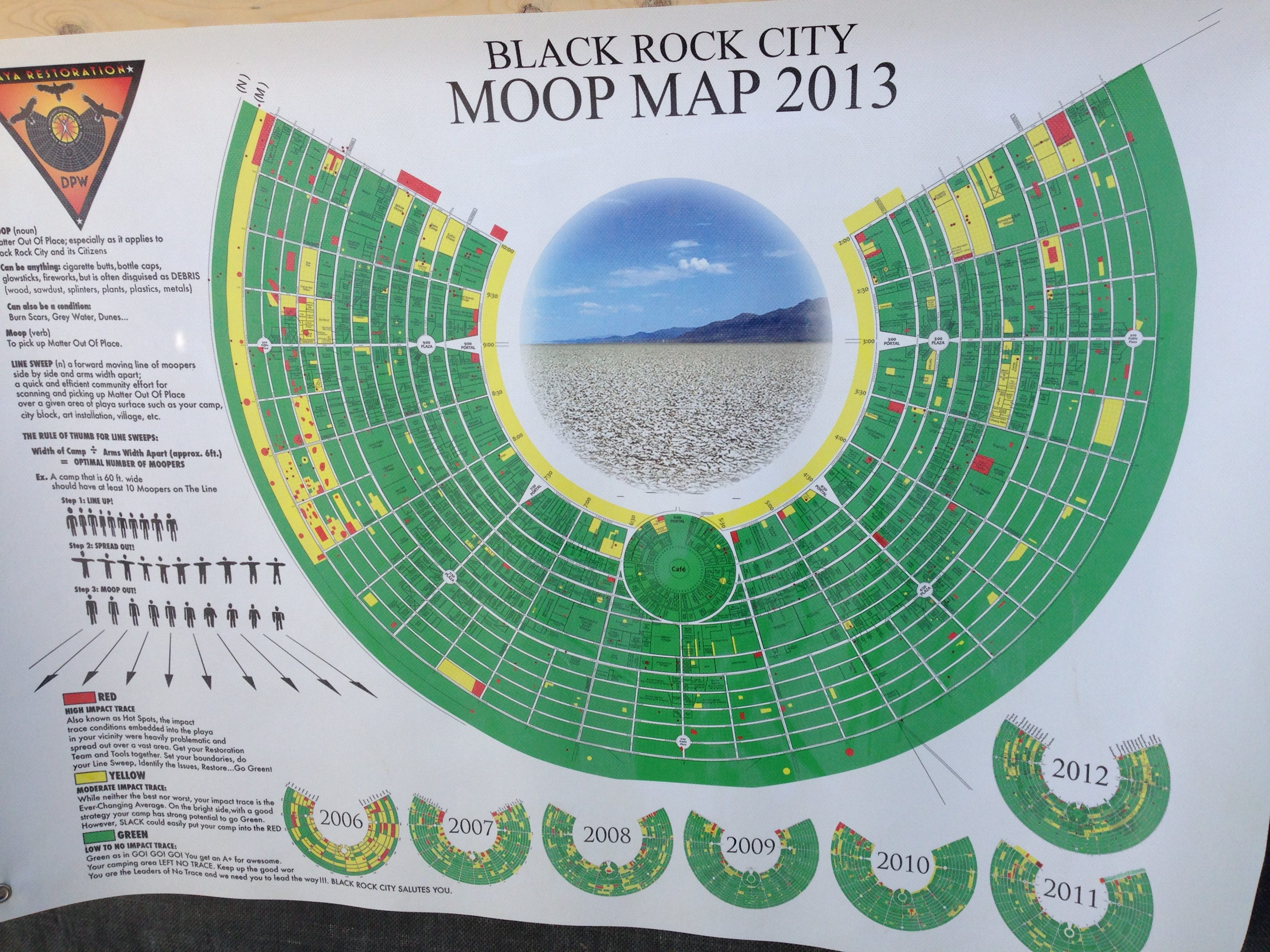Moop Map 2013: This was our first year, and the 'norm' that we wanted to improve on.