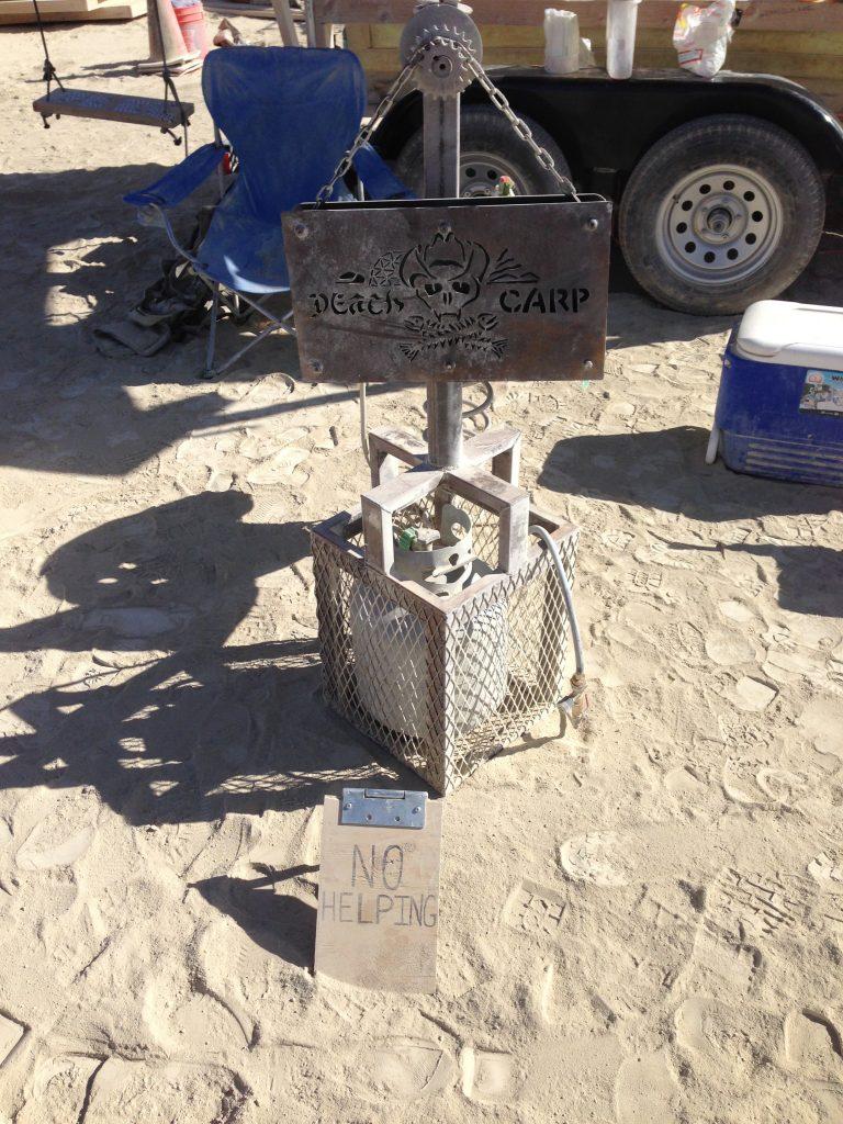 'Death Camp'? No, it's 'Death Carp'. Much more dangerous.
