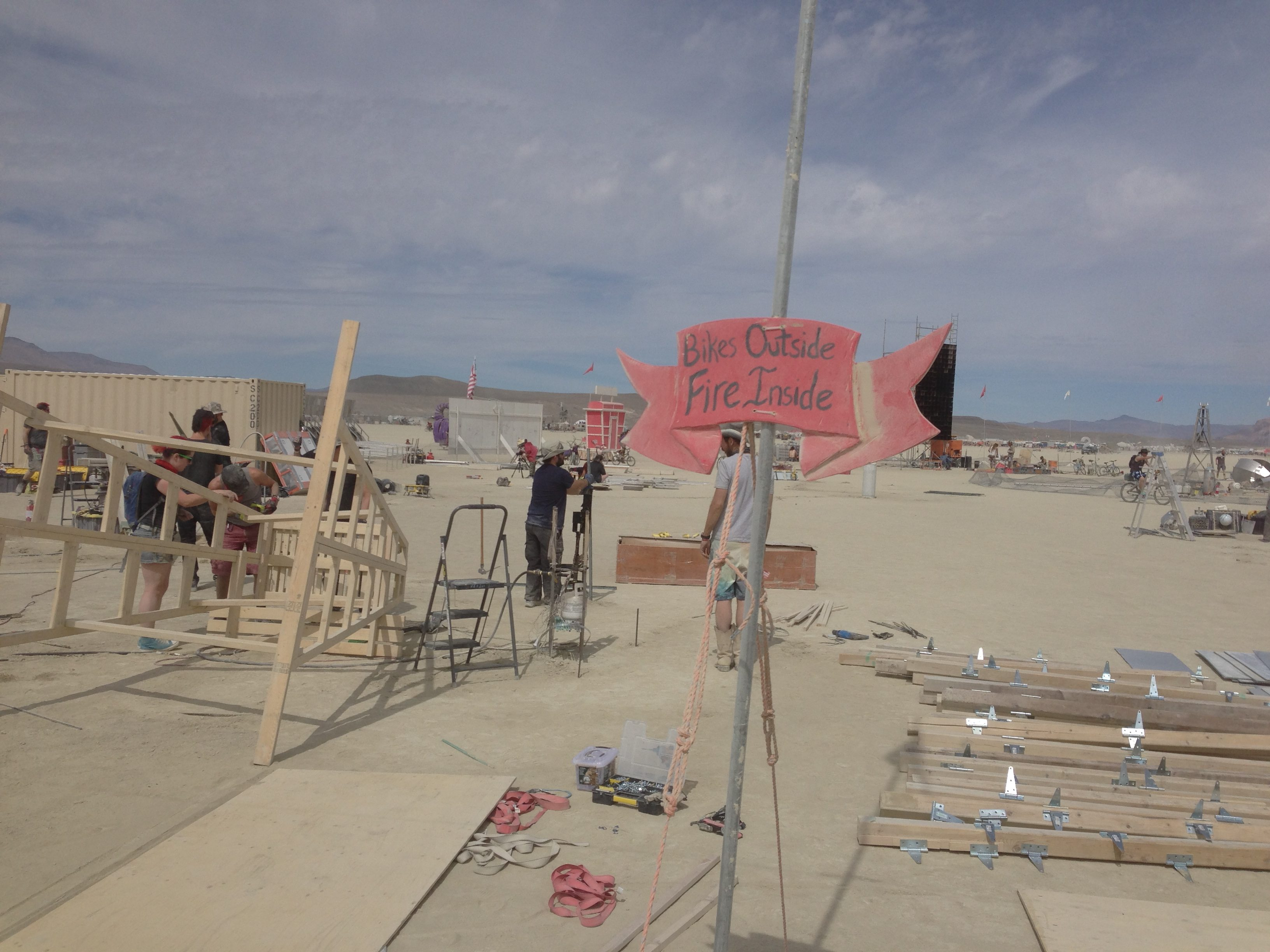 l-r: Lifeguard Stand, Stepstool, Flamey, Quartz Tube, Charnival Sign, Mirror Posts.