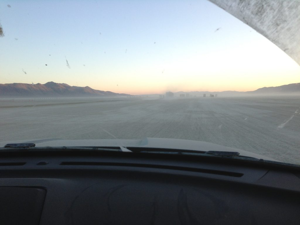 On the road, the dusty, dusty road...