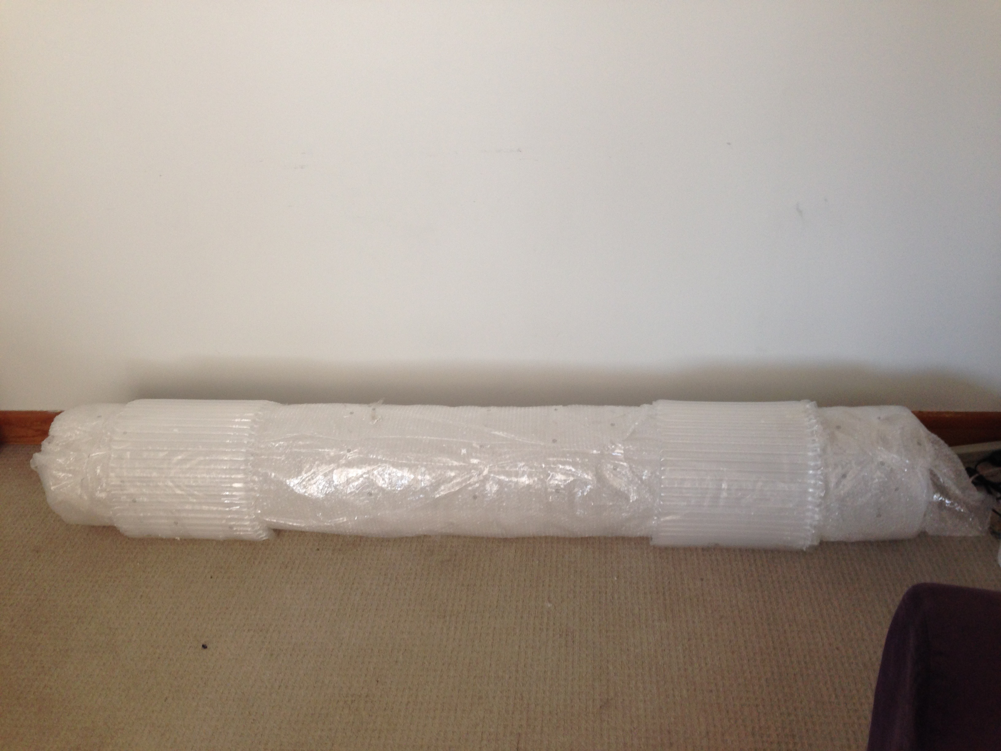 This is the quartz tube, in all its (still slightly packaged) glory.